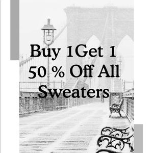 Buy 1 Get 1 50% Off All Sweaters